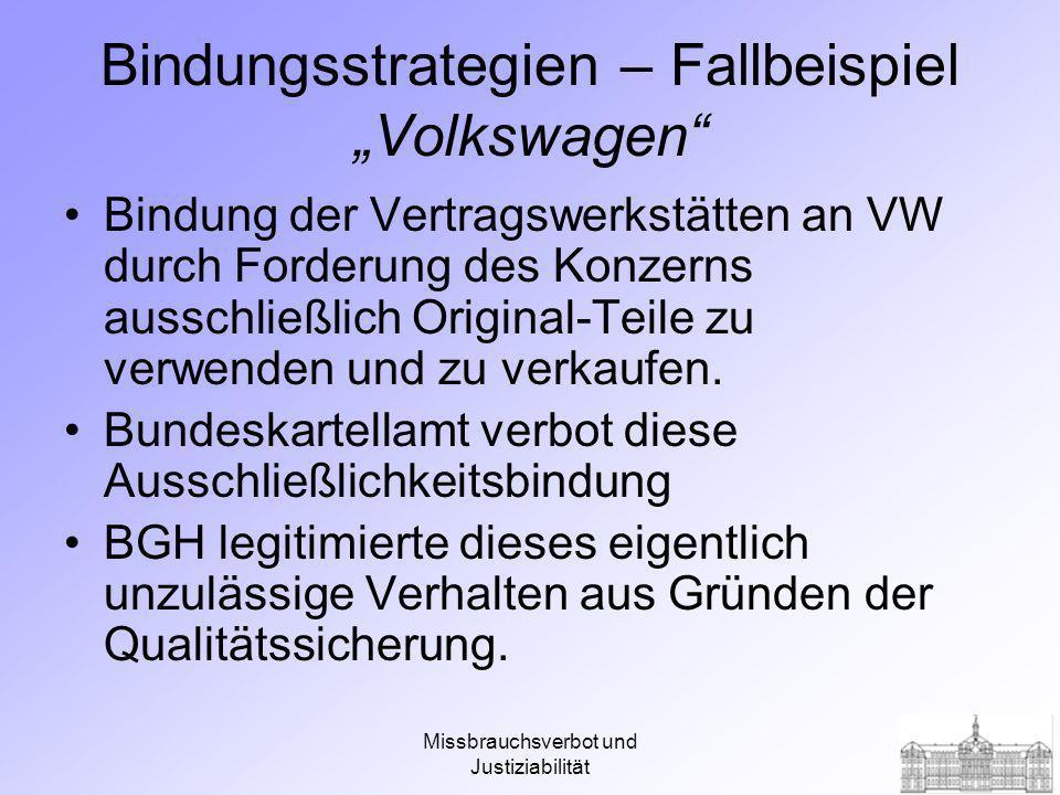 """Bindungsstrategien – Fallbeispiel """"Volkswagen"""