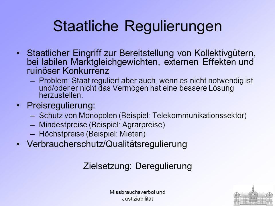 Staatliche Regulierungen