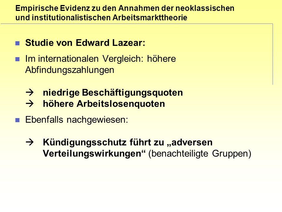 Studie von Edward Lazear: