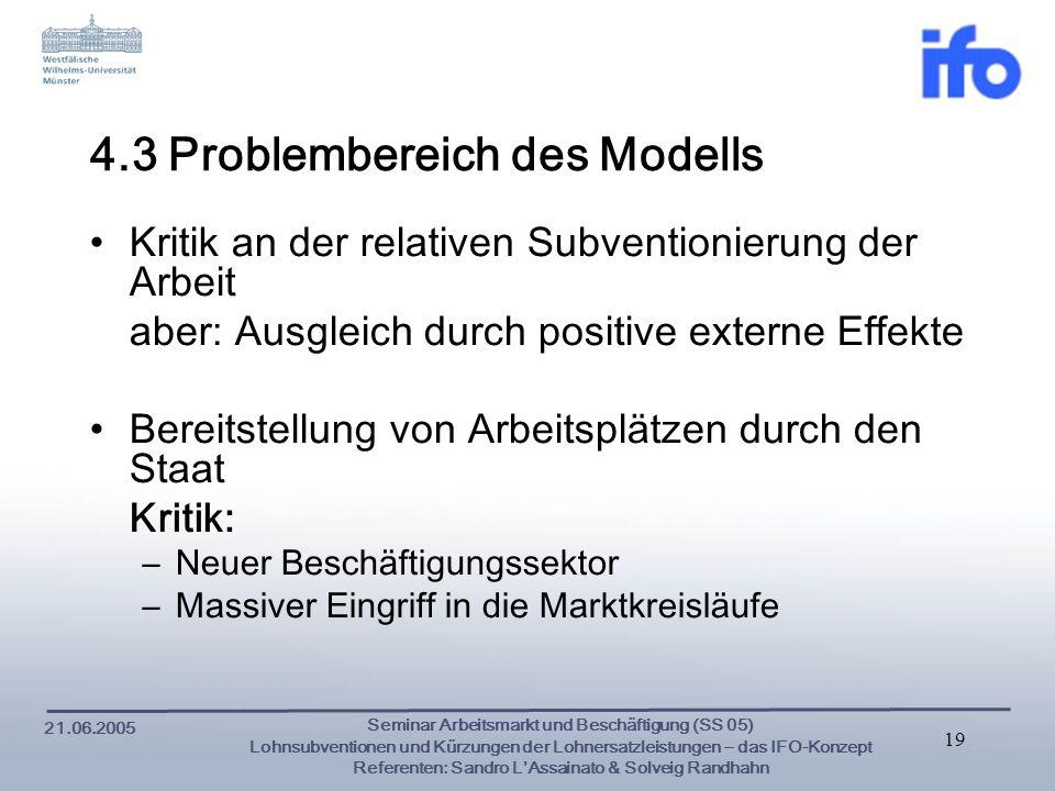 4.3 Problembereich des Modells