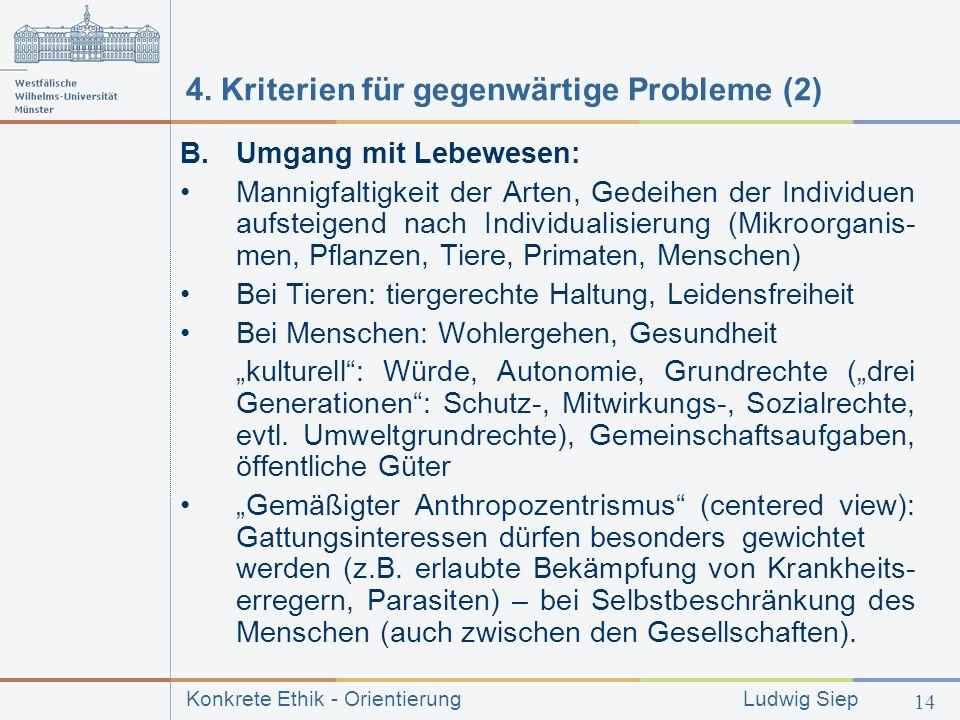 4. Kriterien für gegenwärtige Probleme (2)