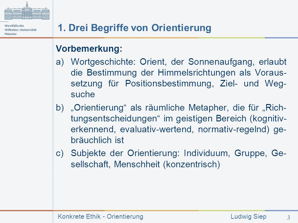 1. Drei Begriffe von Orientierung