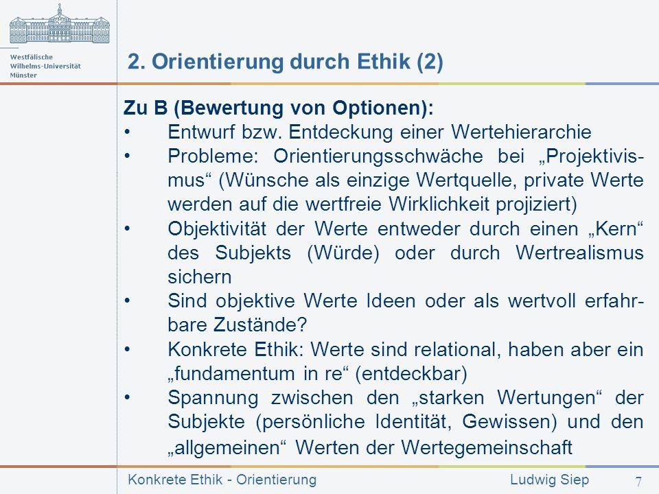 2. Orientierung durch Ethik (2)