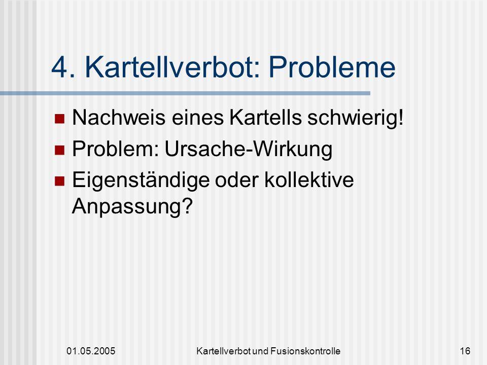 4. Kartellverbot: Probleme