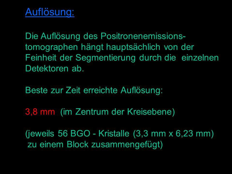 Auflösung: Die Auflösung des Positronenemissions-
