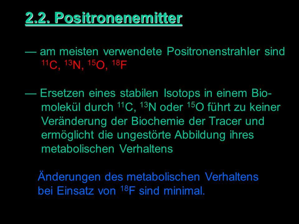 2.2. Positronenemitter — am meisten verwendete Positronenstrahler sind