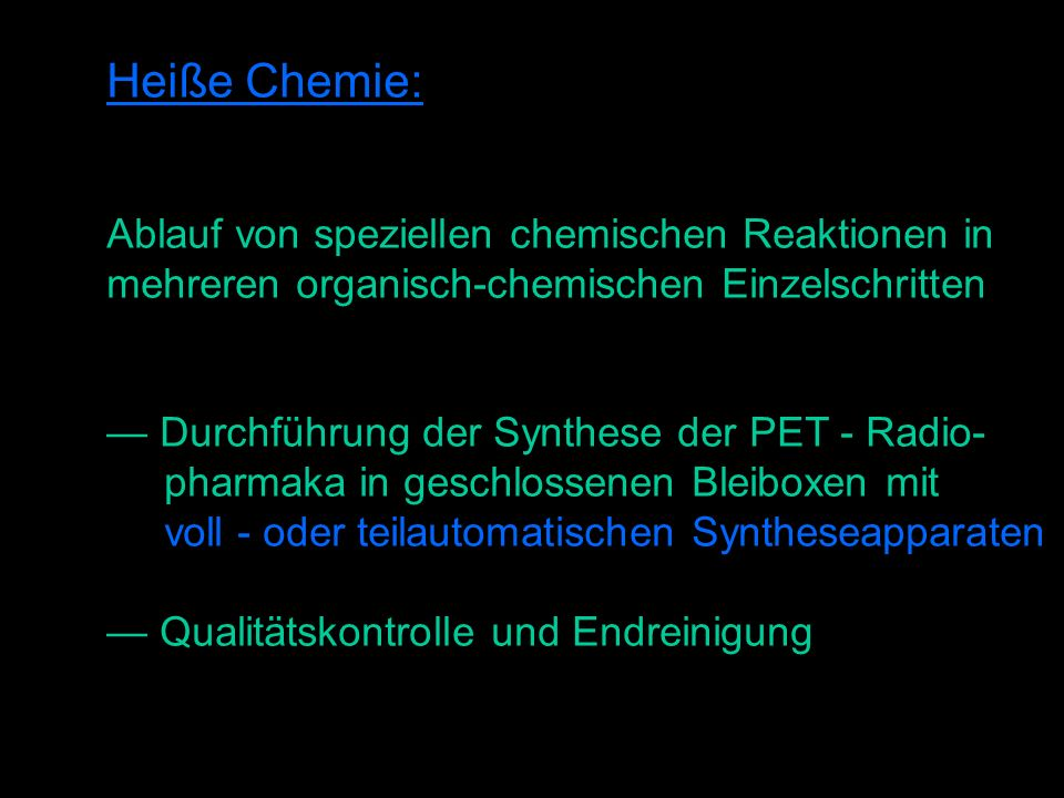 Heiße Chemie: Ablauf von speziellen chemischen Reaktionen in