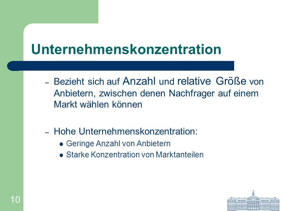 Unternehmenskonzentration