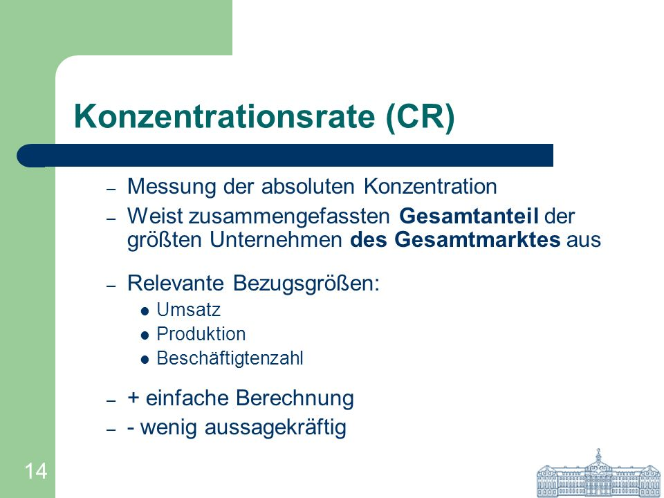 Konzentrationsrate (CR)