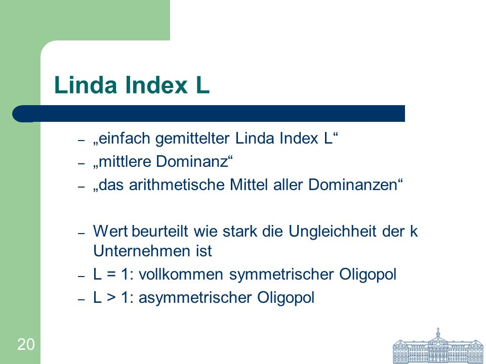 "Linda Index L ""einfach gemittelter Linda Index L ""mittlere Dominanz"