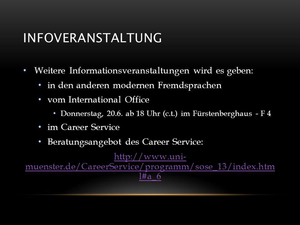 Infoveranstaltung Weitere Informationsveranstaltungen wird es geben: