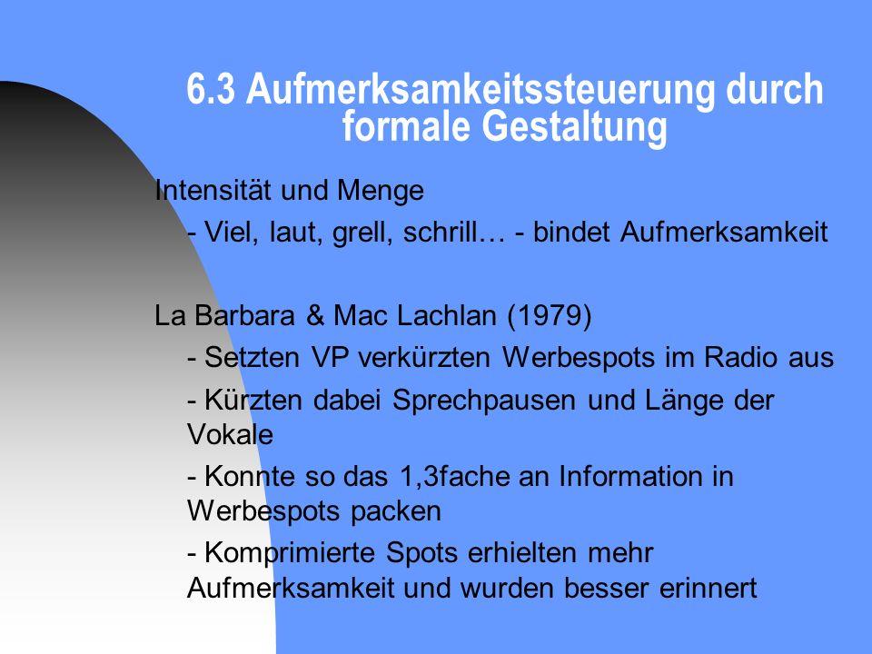 6.3 Aufmerksamkeitssteuerung durch formale Gestaltung