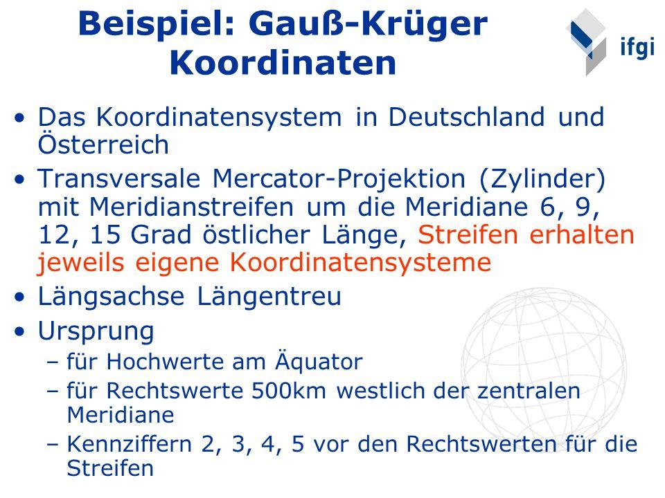 Beispiel: Gauß-Krüger Koordinaten