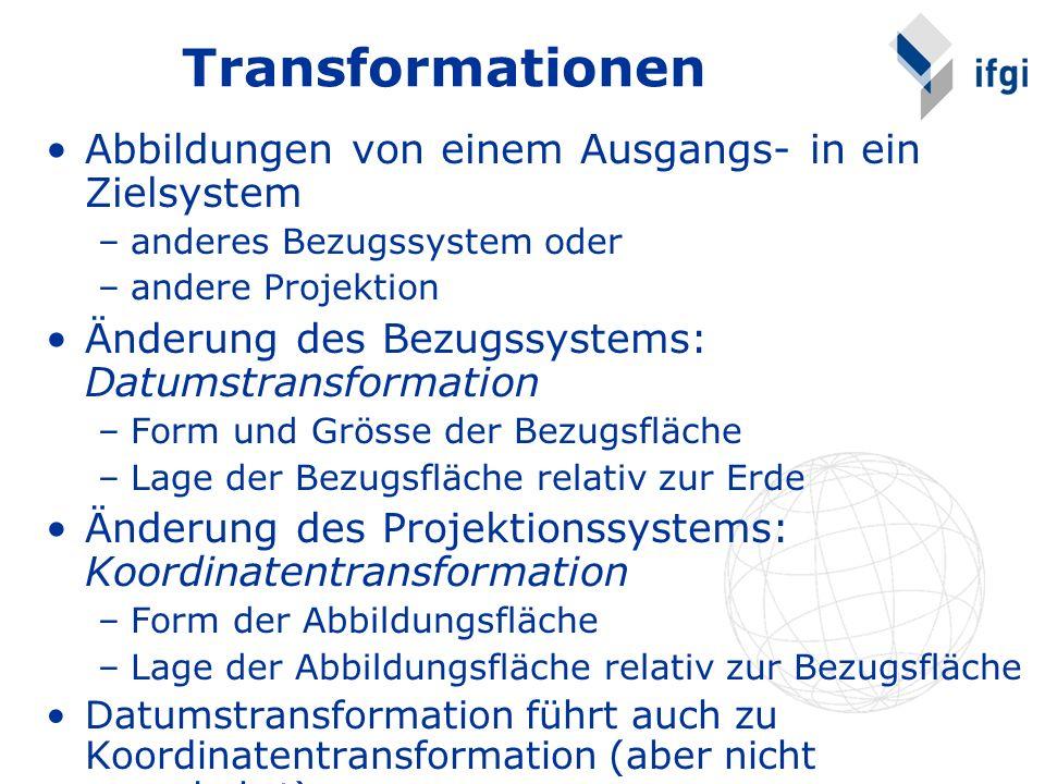 Transformationen Abbildungen von einem Ausgangs- in ein Zielsystem