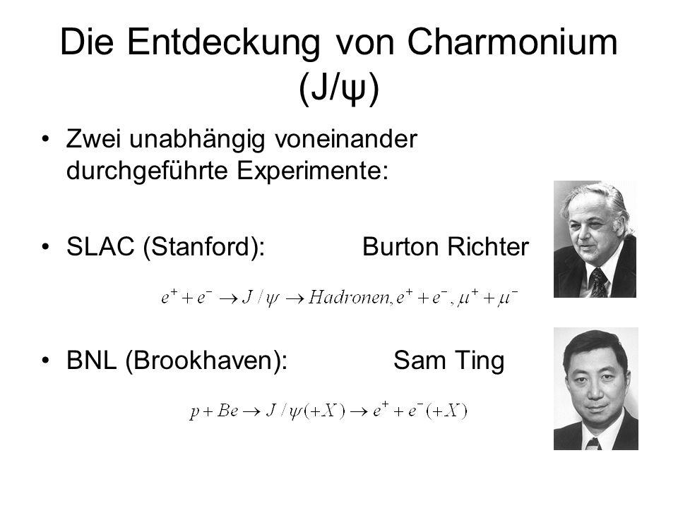 Die Entdeckung von Charmonium (J/ψ)