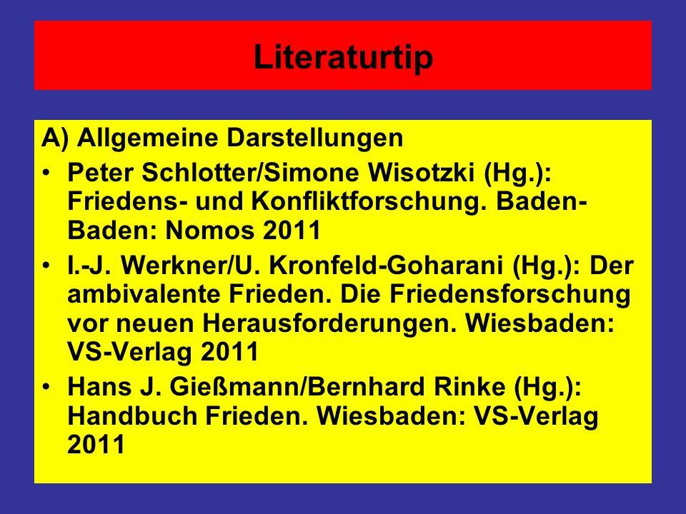 Literaturtip A) Allgemeine Darstellungen