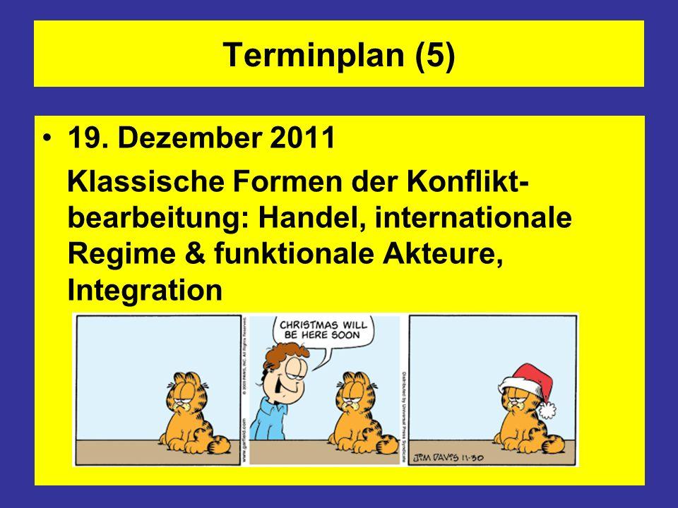 Terminplan (5) 19. Dezember 2011