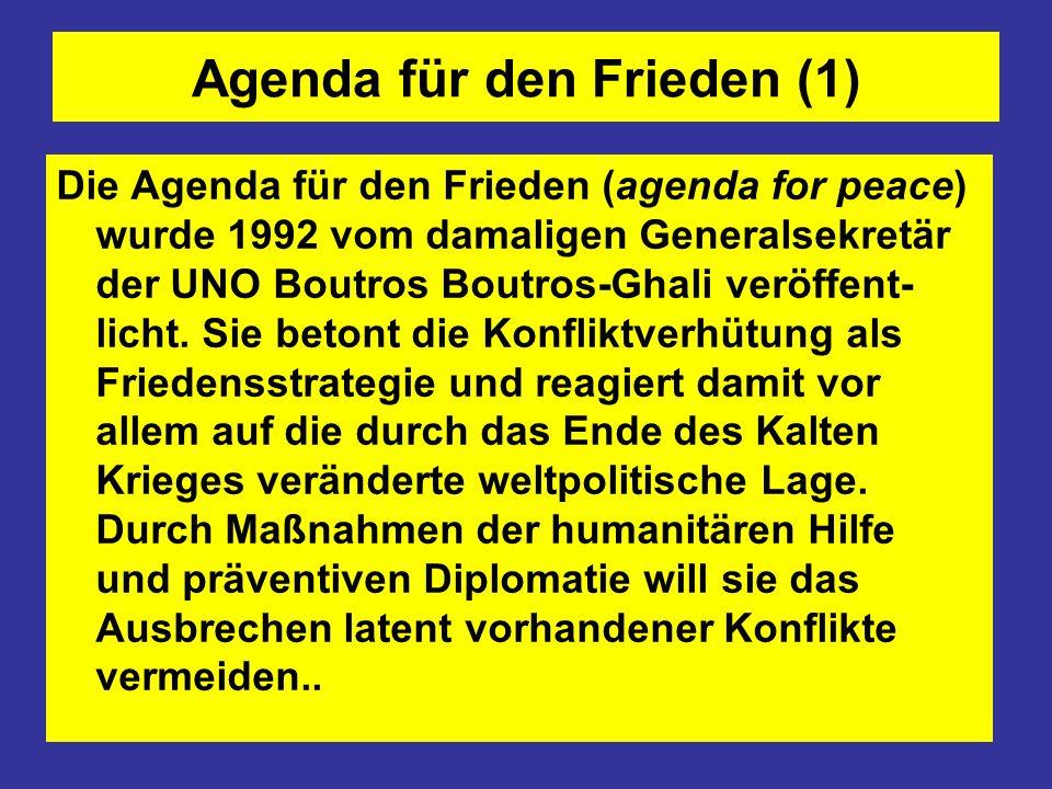 Agenda für den Frieden (1)