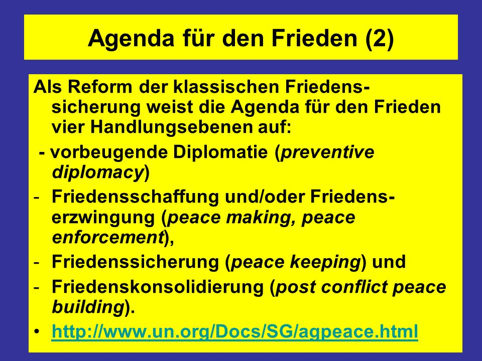Agenda für den Frieden (2)