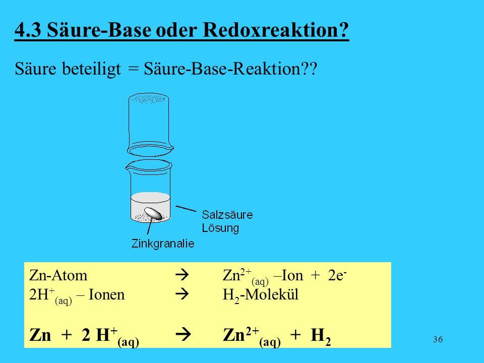 4.3 Säure-Base oder Redoxreaktion