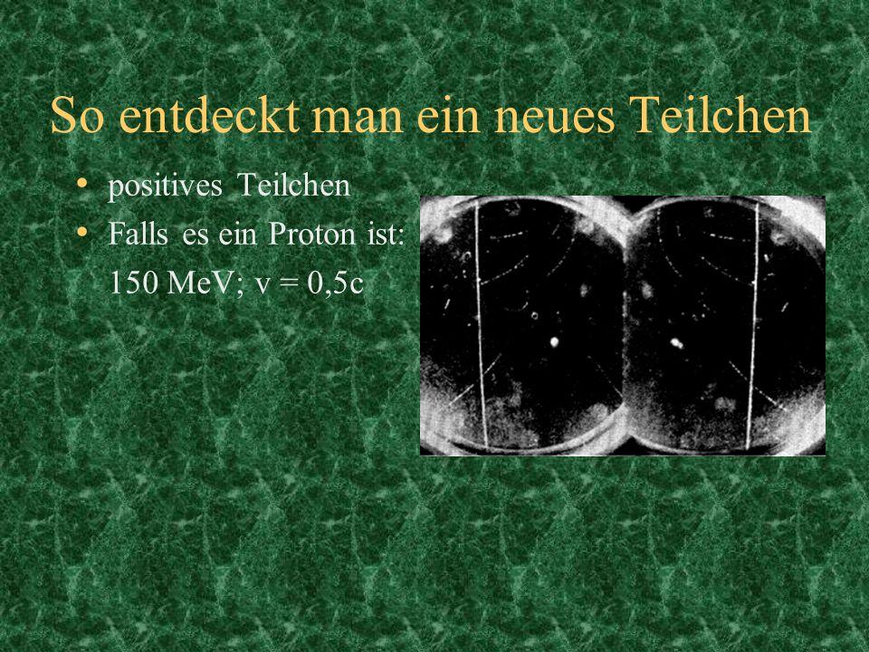 So entdeckt man ein neues Teilchen