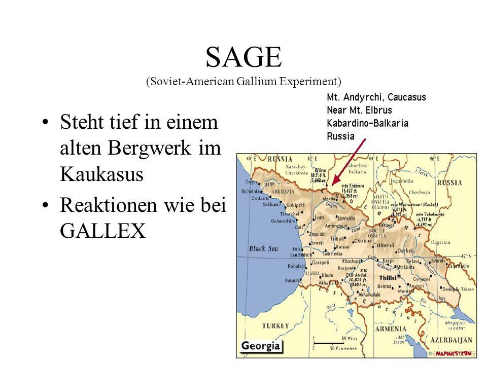 SAGE (Soviet-American Gallium Experiment)