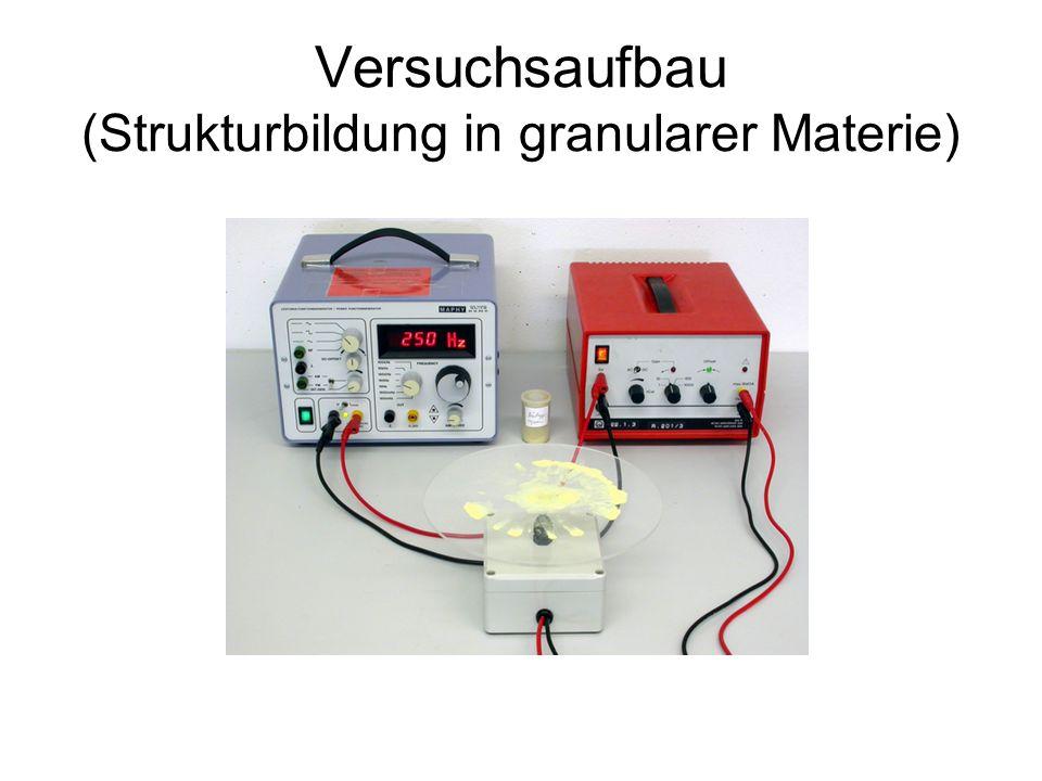 Versuchsaufbau (Strukturbildung in granularer Materie)