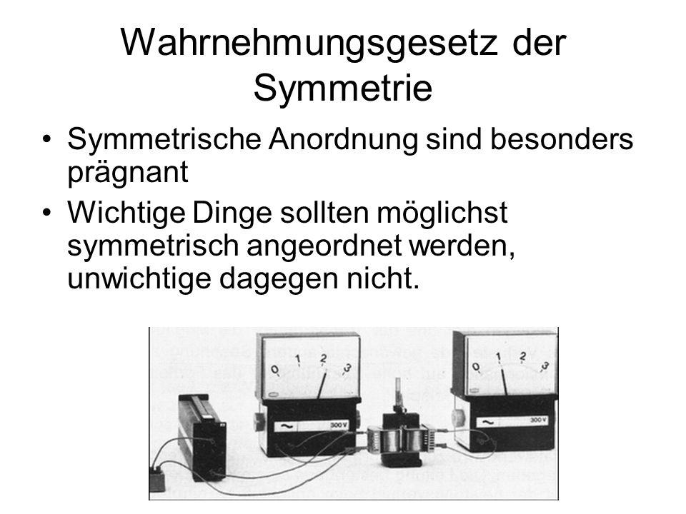 Wahrnehmungsgesetz der Symmetrie