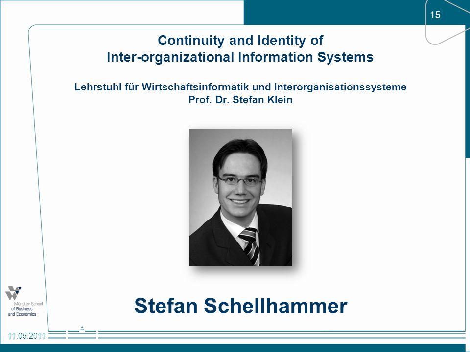 Continuity and Identity of Inter-organizational Information Systems Lehrstuhl für Wirtschaftsinformatik und Interorganisationssysteme Prof. Dr. Stefan Klein