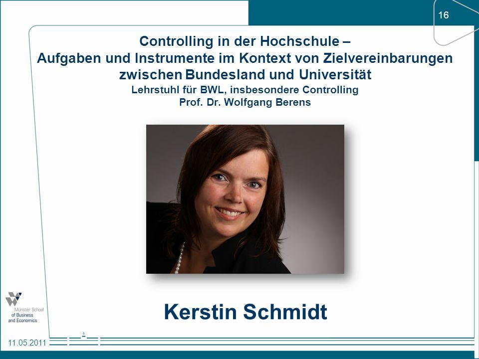 Controlling in der Hochschule – Aufgaben und Instrumente im Kontext von Zielvereinbarungen zwischen Bundesland und Universität Lehrstuhl für BWL, insbesondere Controlling Prof. Dr. Wolfgang Berens