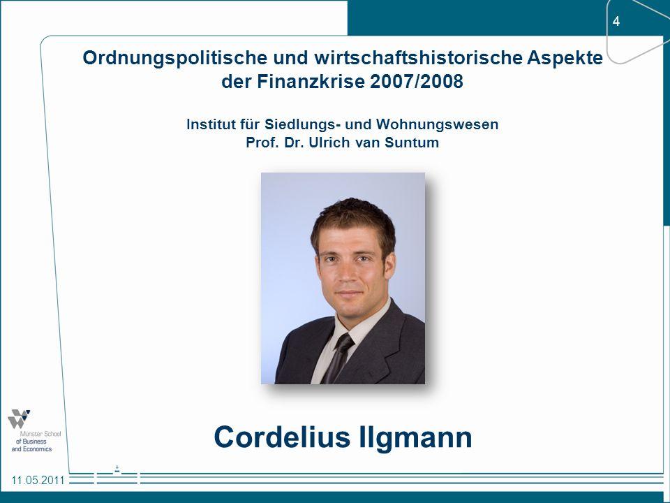 Ordnungspolitische und wirtschaftshistorische Aspekte der Finanzkrise 2007/2008 Institut für Siedlungs- und Wohnungswesen Prof. Dr. Ulrich van Suntum