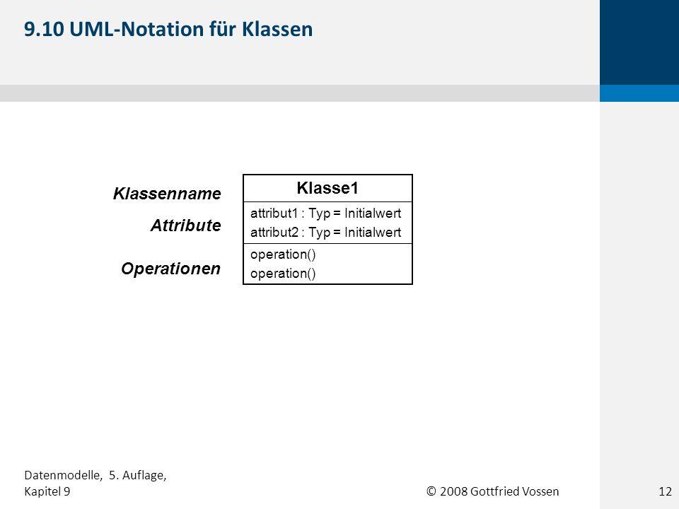 9.10 UML-Notation für Klassen