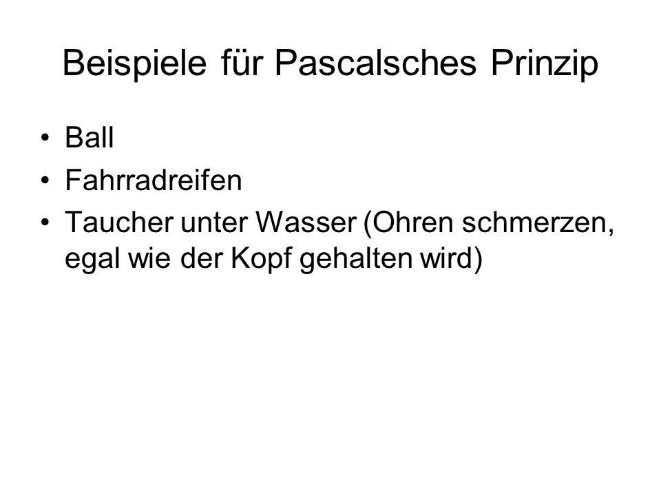 Beispiele für Pascalsches Prinzip