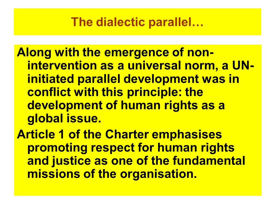 The dialectic parallel…