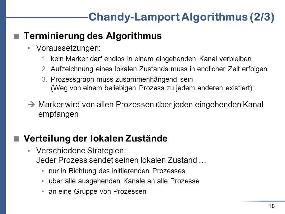 Chandy-Lamport Algorithmus (2/3)