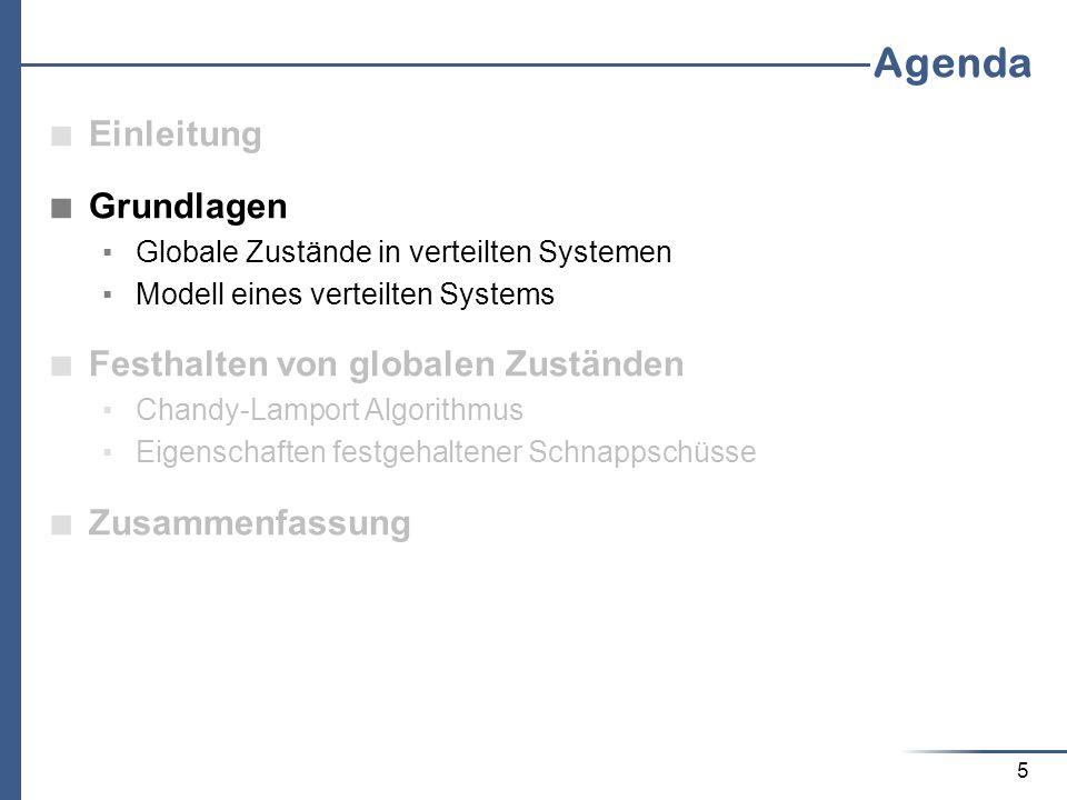 Agenda Einleitung Grundlagen Festhalten von globalen Zuständen