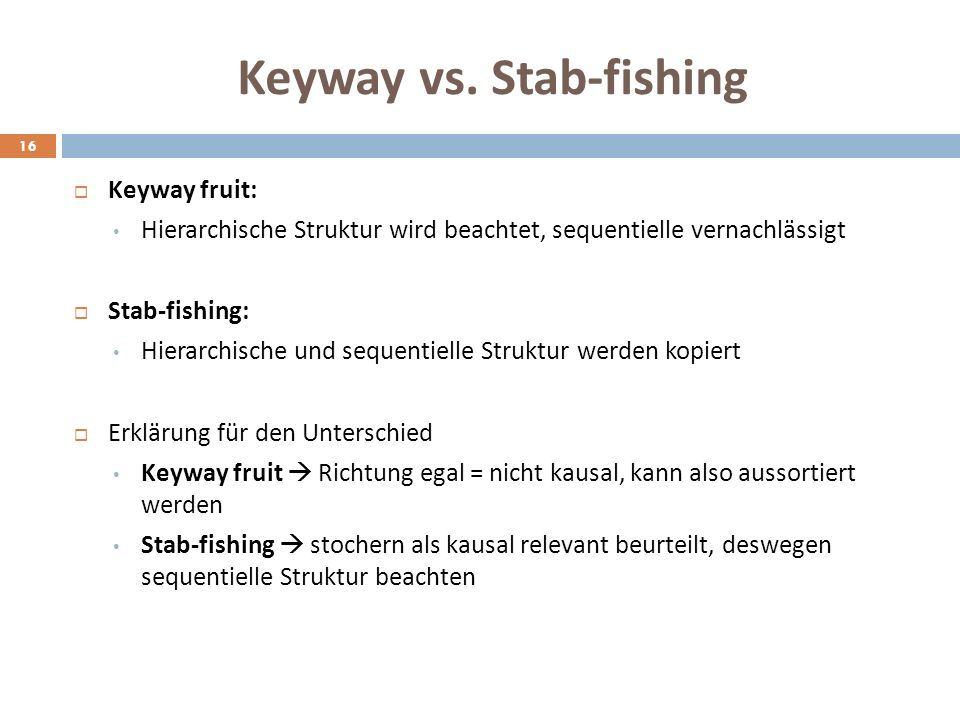 Keyway vs. Stab-fishing