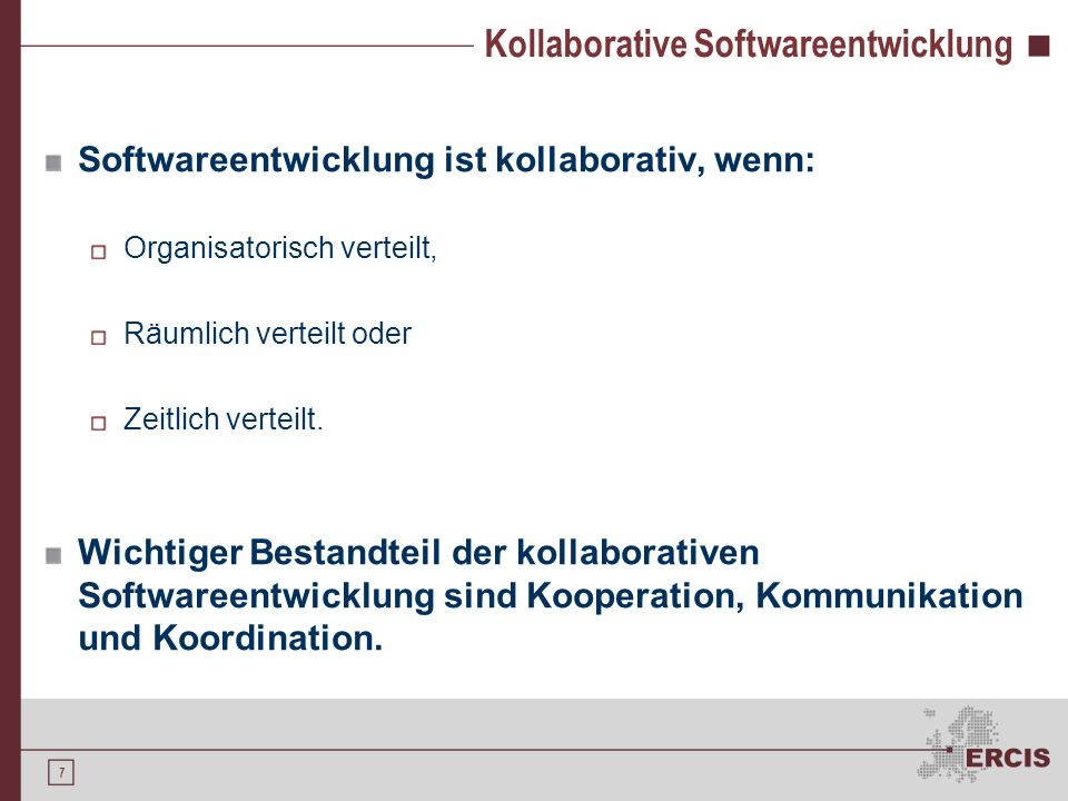 Kollaborative Softwareentwicklung