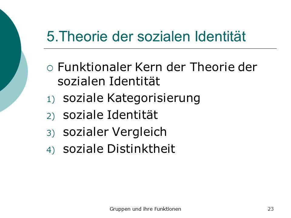 5.Theorie der sozialen Identität