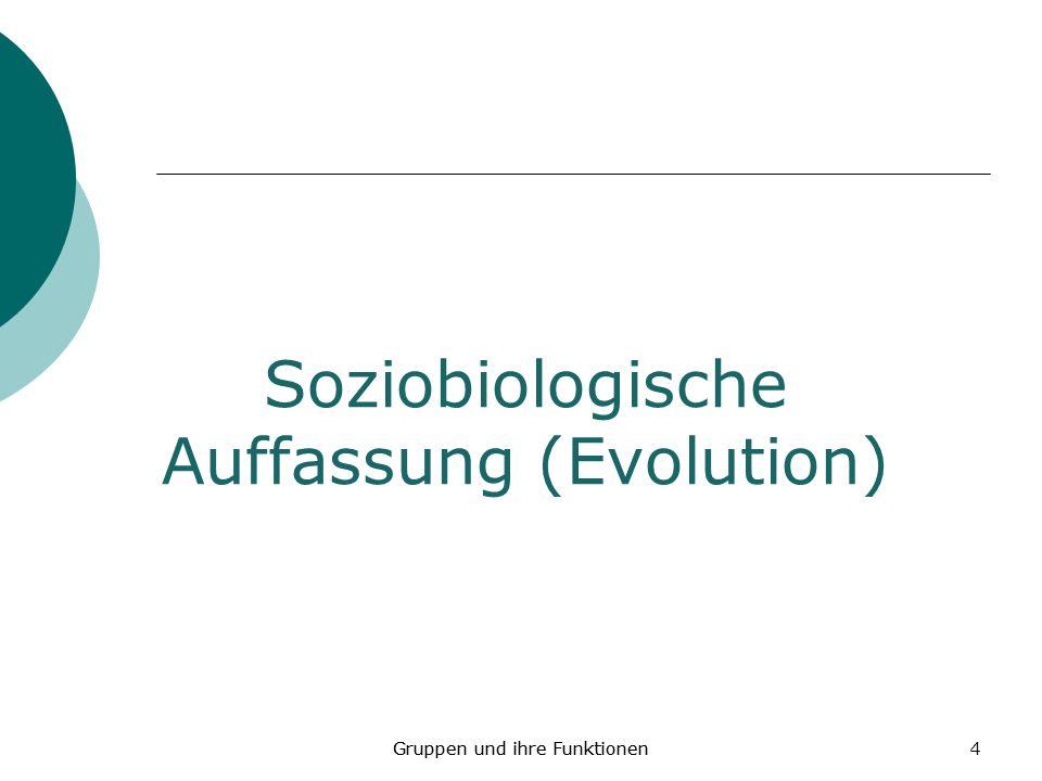 Soziobiologische Auffassung (Evolution)
