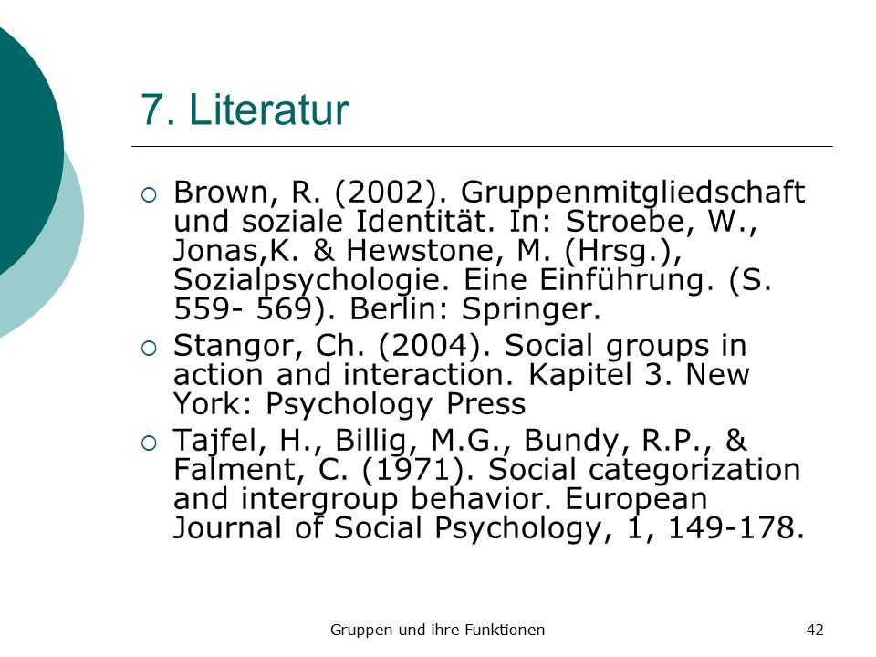 7. Literatur