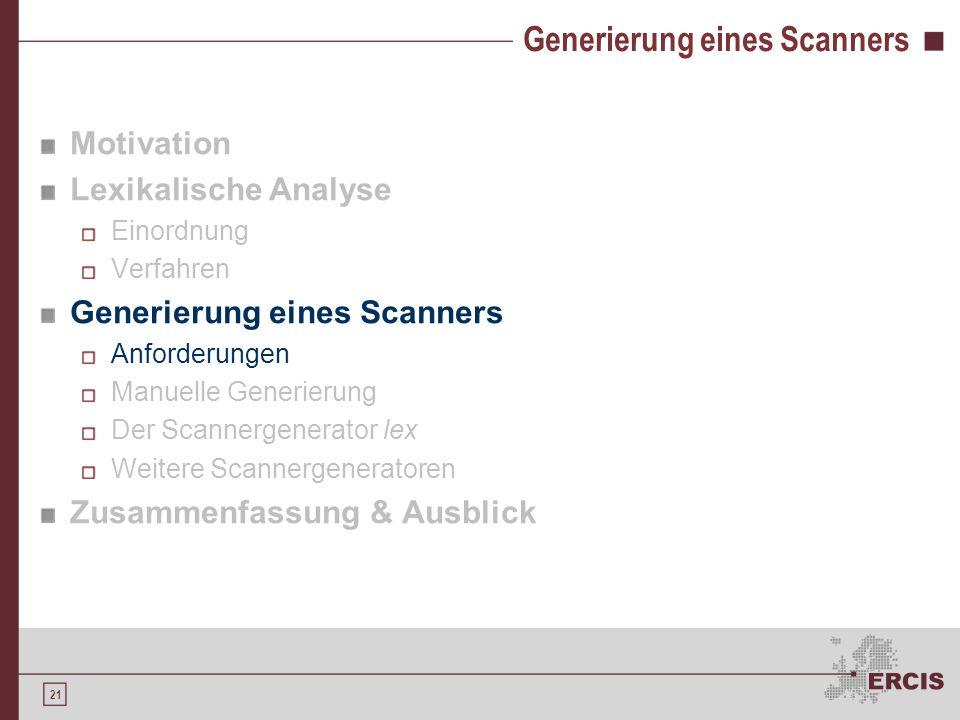 Generierung eines Scanners