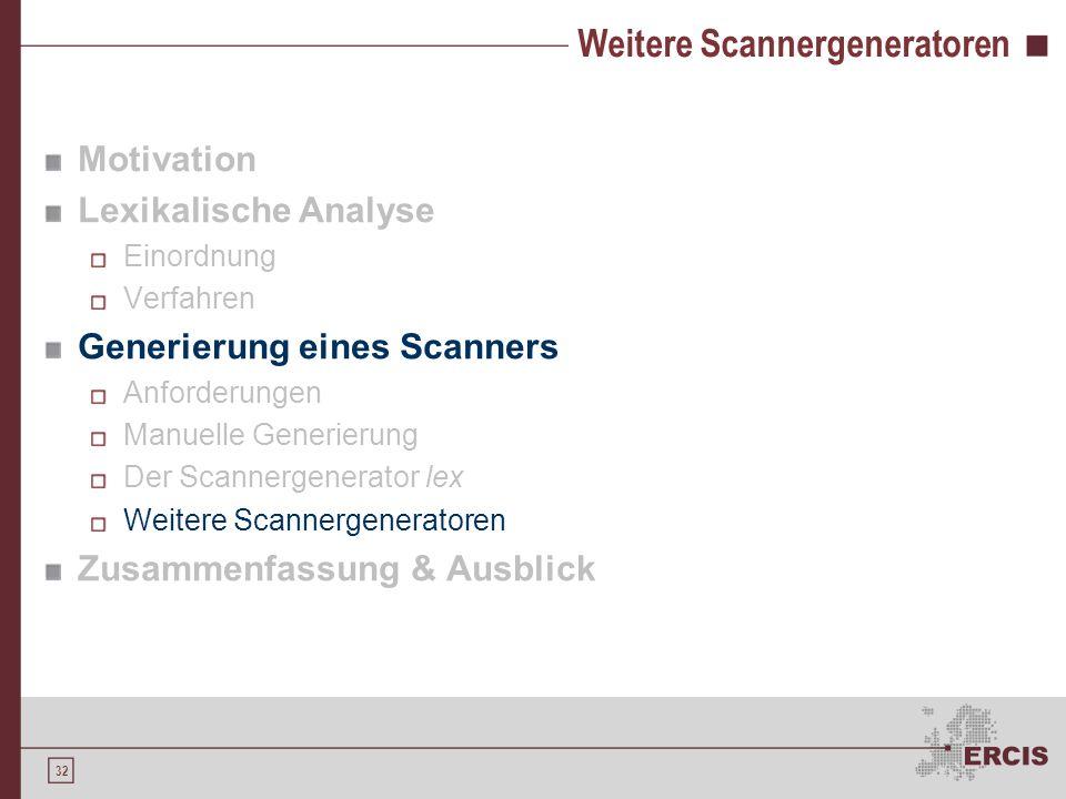 Weitere Scannergeneratoren