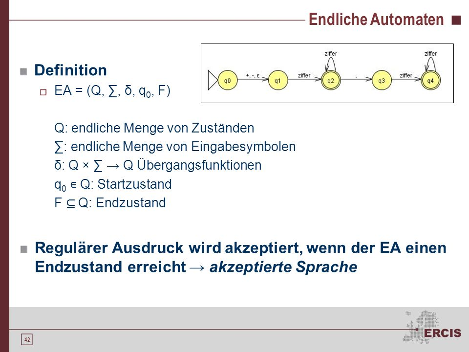 Endliche Automaten Definition