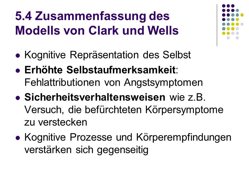5.4 Zusammenfassung des Modells von Clark und Wells