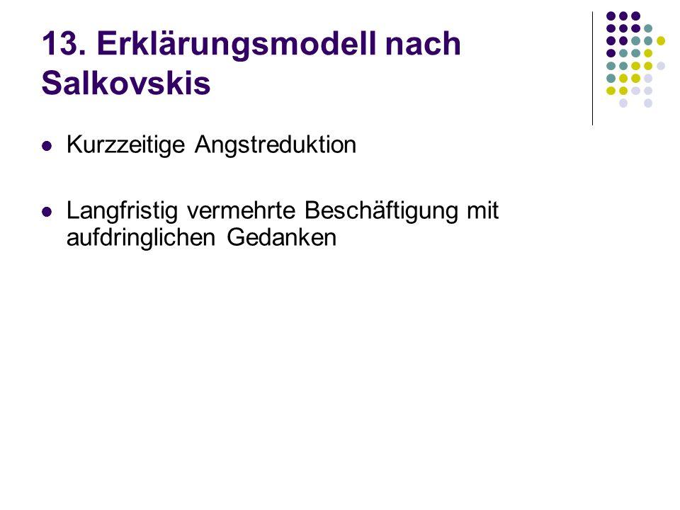 13. Erklärungsmodell nach Salkovskis