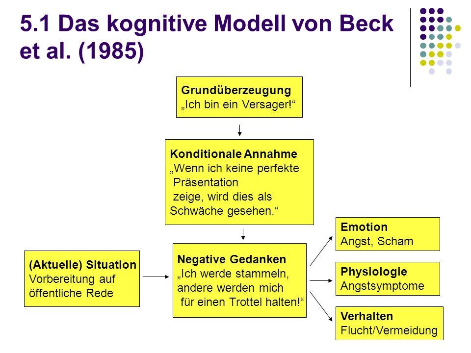5.1 Das kognitive Modell von Beck et al. (1985)