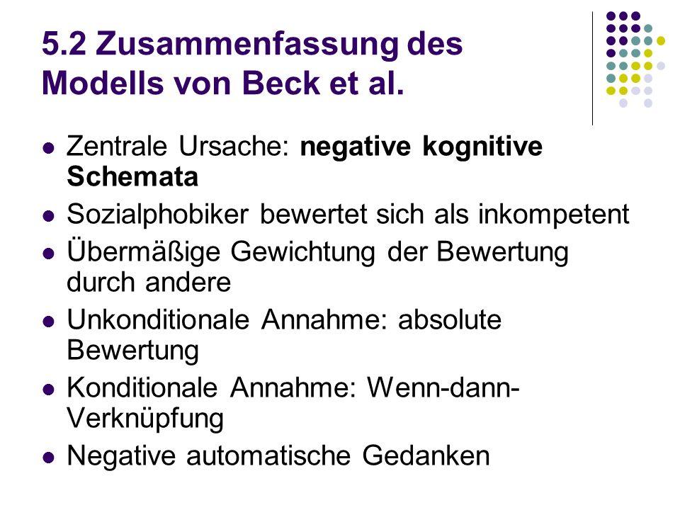 5.2 Zusammenfassung des Modells von Beck et al.