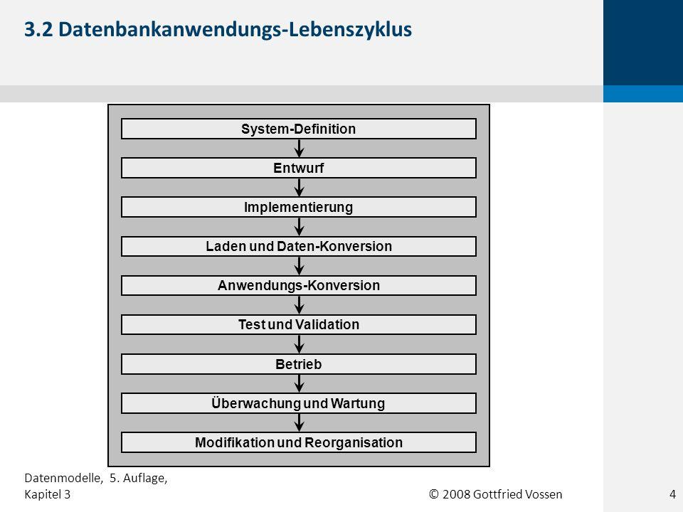 3.2 Datenbankanwendungs-Lebenszyklus