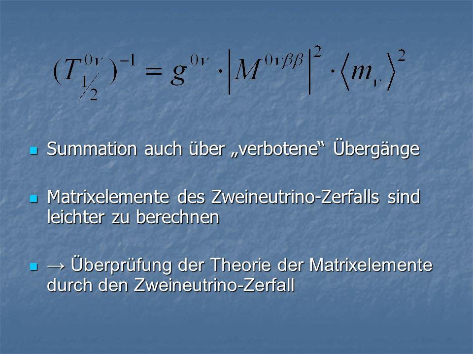 """Summation auch über """"verbotene Übergänge"""